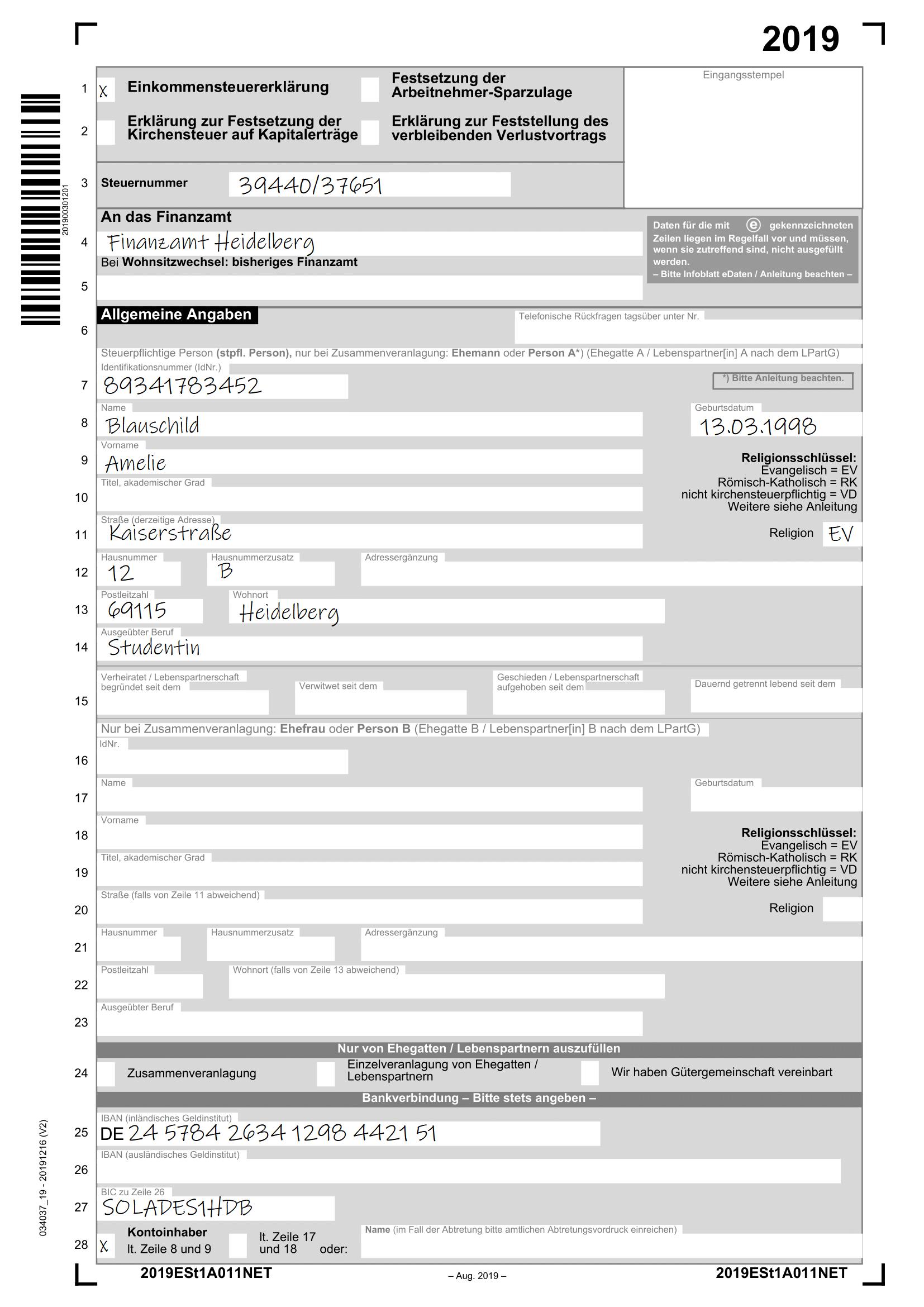 Semesterbeitrag Steuererklärung
